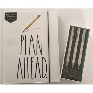 Rae Dunn Plan Ahead 2020 Planner & 3 Piece Pen Set